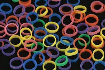 "NEON - 3/16"" MEDIUM 3.5 oz - ORTHODONTIC ELASTIC - BRACES - DENTAL RUBBER BANDS"