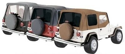 Rampage Factory Replacement Soft Top - Denim Black fits 88-95 Jeep Wrangler YJ