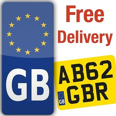 Motorcycle Motorbike GB Euro Badge Sticker for number-plate vinyl europe legal