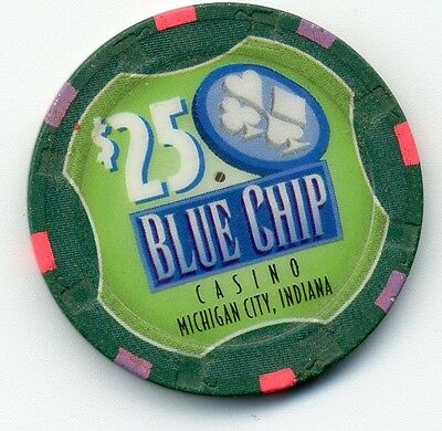 Blue Chip Casino $25 House  Obs  Indiana Chip   In