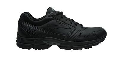 Brooks Fresh Walker Womens BLACK Leather Walking Shoes + FREE DELIVERY AUS WIDE