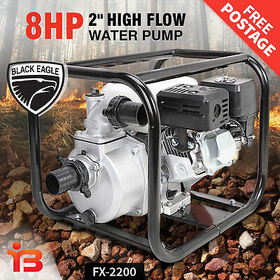 NEW 2 Inch Petrol Water Transfer Pump Fire Fighting High Flow Irrigation