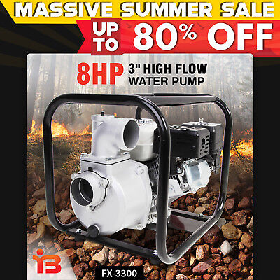 NEW LIFEN 3 Inch Petrol Water Transfer Pump High Flow Irrigation Fire Fighting