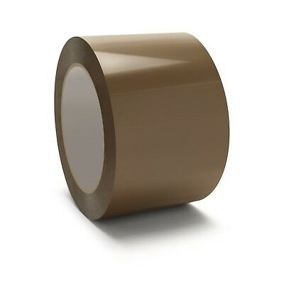 "12 Rolls 3"" x 110 Yards Tan Hotmelt Tape 2.5 Mil Packing Shipping Tapes Box"