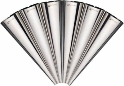 Masterclass Set Of 6 Stainless Steel Cream Horn Pastry Cone Moulds