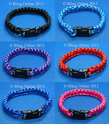 Boys Girls Paracord Military Style Wristband Bracelet Para Cord Camping Hiking