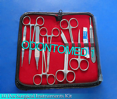 10 pcs Minor Student Surgery Surgical Instruments kit