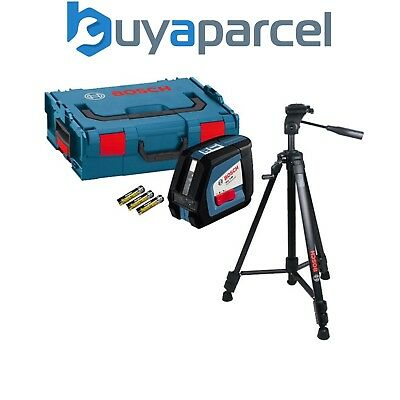 Bosch GLL250 GLL 2-50 Professional Cross Line Laser Level + BT150 Tripod Stand