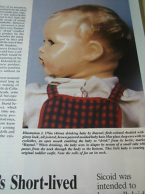 6pg Sicoid Doll Article CELLULOID'S SHORT LIVED REPLACEMENT /Dominique Pennegues