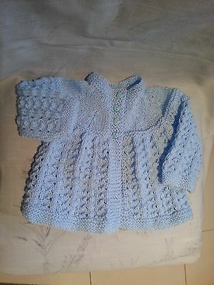 Handknitted Baby Jacket 3-9mths