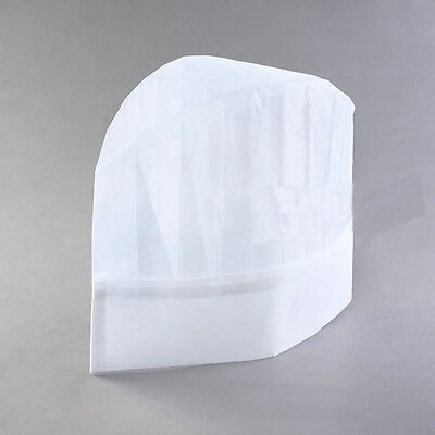 20pcs Professional Disposable White Paper Chef Hats Wholesale Pack
