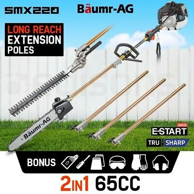 NEW Baumr-AG Pole Chainsaw Hedge Trimmer Pruner Chain Saw Tree Cutter Multi Tool