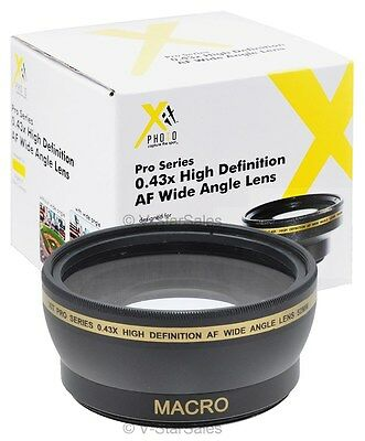 40.5mm XIT Pro series 0.43x HD Wide Angle Lens for Olympus PEN E-PL5 E-PL3 E-P3