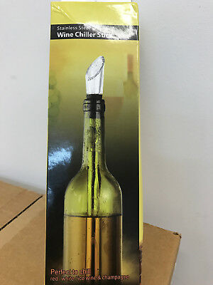 Windaze stainless steel wine chiller stick perfect to chill red white & ice wine