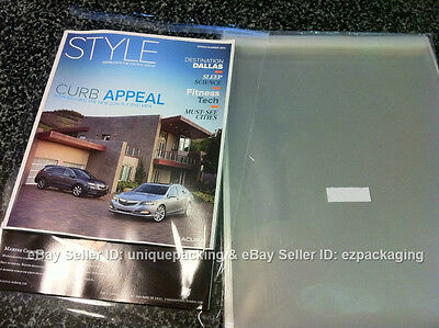 200 8 7/16 x 10 1/4 Clear Resealable Cello Poly Cellophane Bags for 8x10 prints