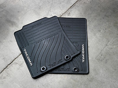 Toyota Tacoma 2012-2013 Extended Cab Black All Weather Rubber Floor Mats OEM NEW