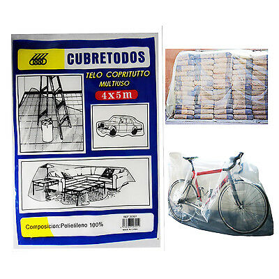 Clear Dust Sheet Polythene Cover Large Disposable Waterproof Surface Protector