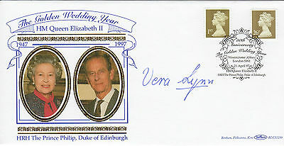 The Forces sweetheart signed Queens Golden Wedding FDC - DAME VERA LYNN