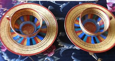 Pair of middle eastern design cups and saucers RS Made in Japan