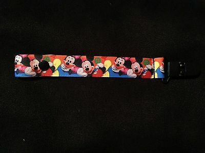 Super Cute Mickey Pacifier Holder Clip Snap Or String