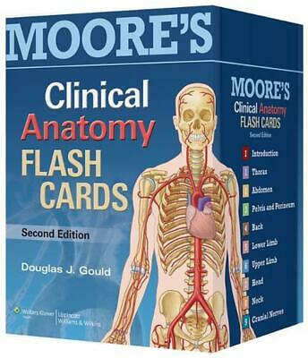 Moore's Clinical Anatomy Flash Cards by Douglas J. Gould (English)