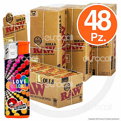 Cartine RAW ROLLS 24pz King Size Classic Lunghe rotolo Regular