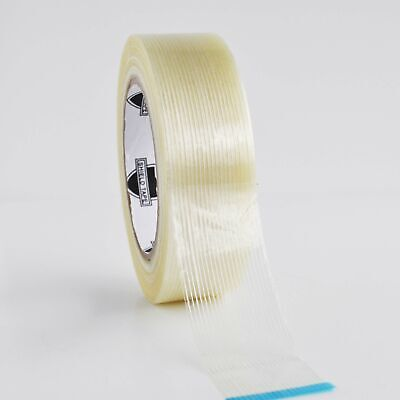 "Filament Tape 1 1/2"" x 60 Yard 4 Mil Fiberglass Reinforced Packing Tape 12 Rolls"