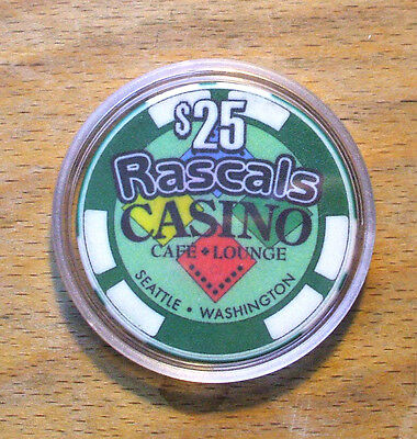 $25. Rascals Casino Chip - Seattle, Washington