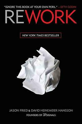 Rework by Jason Fried (English) Hardcover Book Free Shipping!