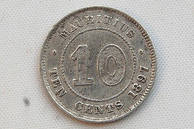 Mauritus 10 Cents 1897 VF Condition !!!!!