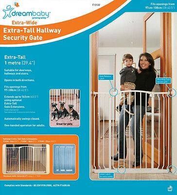 Dreambaby Chelsea Extra Wide & Tall Swing Closed Security Baby Safety Gate 1m