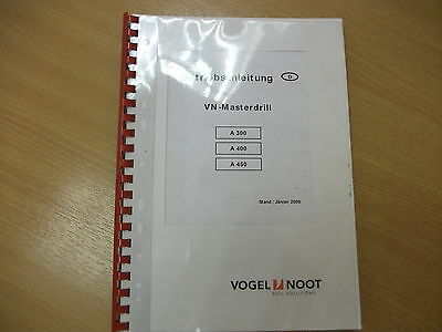 VOGEL NOOT MASTERDRILL A300, A400, A450 SPARE PARTS CATALOGUE     (n)