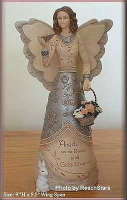 PAVILION ELEMENTS BEAUTY ANGEL FIGURINE WITH BUTTERFLY FREE SHIPPING