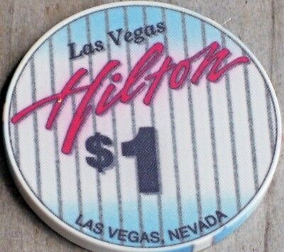 $1 6Th Edt Casino Gaming Chip From The Hilton Casino Las Vegas  Nv