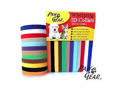 Whelping ID Collars Puppy Dog Kitten Puppy Dog Soft Adjustable Reusable Pawgear