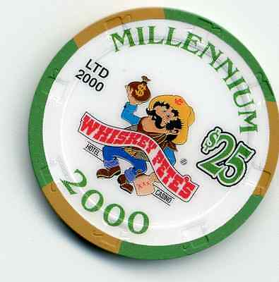 Whiskey Pete's   $25  Millennium 2000  Casino Chip