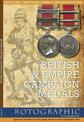 Rotographic British & Empire Campaign Medals Vol 1 1793 to 1902, S. Perkins 2009
