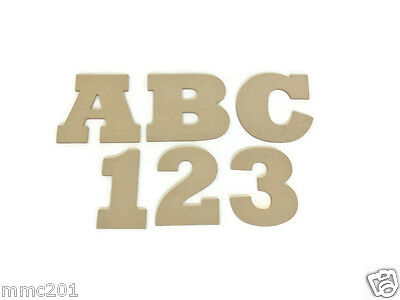 Hanging MDF Wooden Alphabet Letters & Numbers, 6mm Thick
