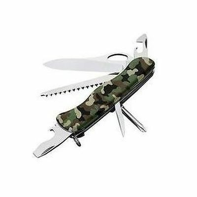 NEW SWISS ARMY 54877 CAMO ONE HAND TREKKER VICTORINOX KNIFE NEW IN BOX SALE