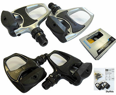 Shimano PD-R540 Road Bike Racing Bicycle Pedals Cleats Black/Silver SPD SL