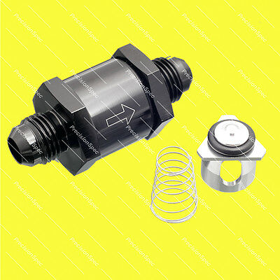 AN6 6AN Aluminium Inline Non Return One Way Check Valve Black W/ 1Yr Warranty