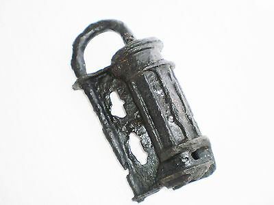 ANCIENT RARE 100% Authentic Viking Iron Copper Large PADLOCK  9-11 century AD