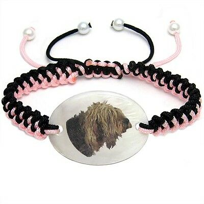 Otterhound Mother Of Pearl Natural Shell Adjustable Knot Bracelet BS139