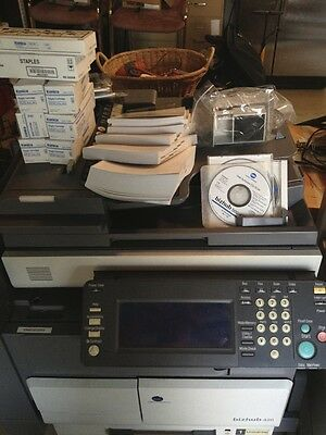 konica Minolta Bizhub 420 B&W Scanner/Copier/Printer + Extra Ink Toner