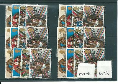 CHRISTMAS  - 1974 - A173- 6 SETS  - USED