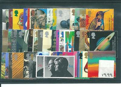 Gb Commems - 1999 - Complete Year -  Unm Mint Sets
