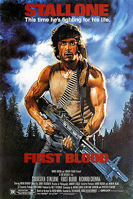 Rambo First Blood (Sylvester Stallone And Richard Grenna) Film Poster Print 02