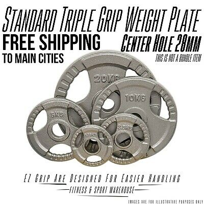 Standard Weight Plate Ez Grip Hammertone 1.25kg-20kg Free Shipping Selected Area