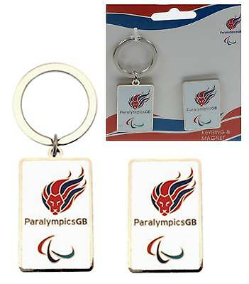 5 Packs London 2012 Paralympic Team GB Lion Head Fridge Magnet & Key Ring Chain