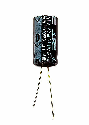 10pc Electrolytic Capacitor KM 33uF 350V 105℃ 2000hrs Radial φ13x26mm RoHS SC